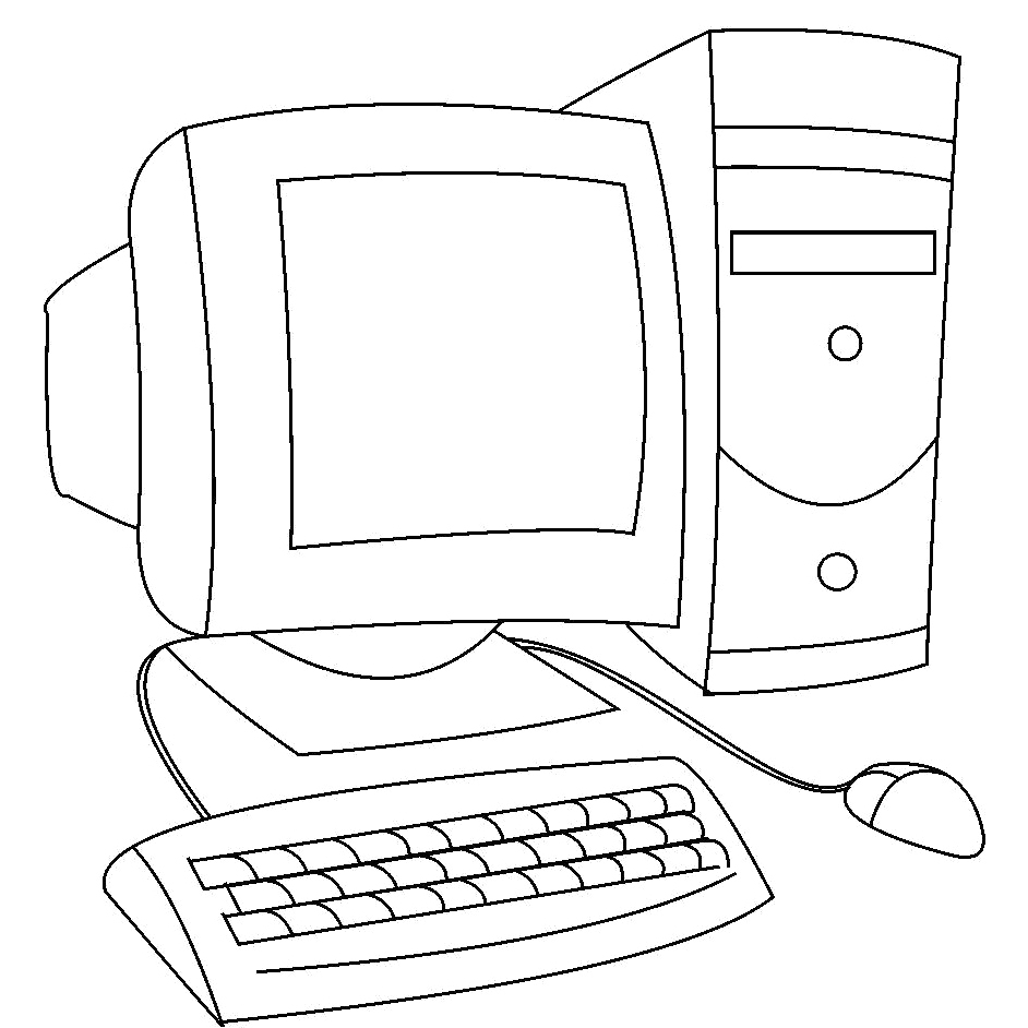 computer coloring pages - puter coloring pages