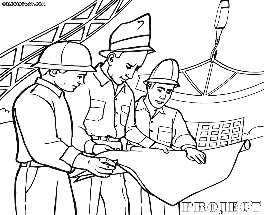 construction coloring pages - construction coloring pages