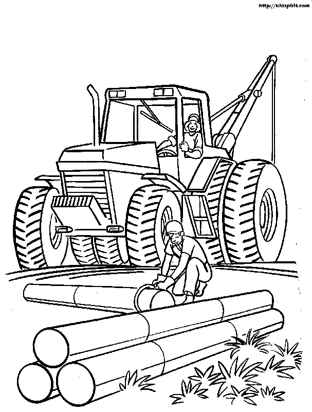 construction coloring pages - construction tools coloring pages
