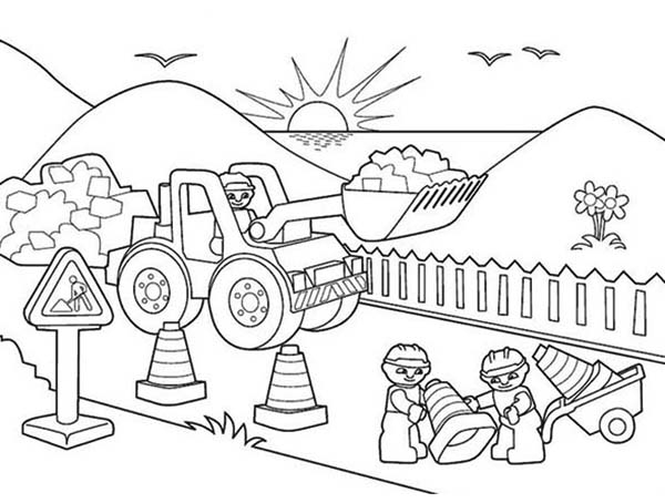 Construction Coloring Pages - Construction Workers Free Colouring Pages