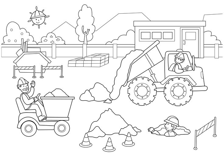 construction coloring pages - q=construction cone