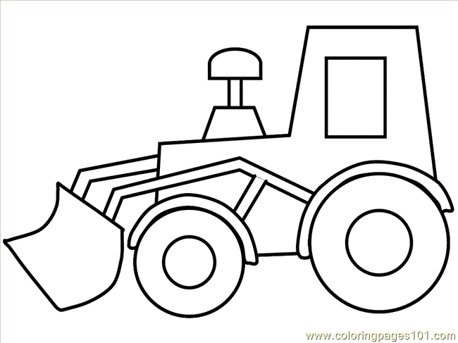 construction truck coloring pages - truck14