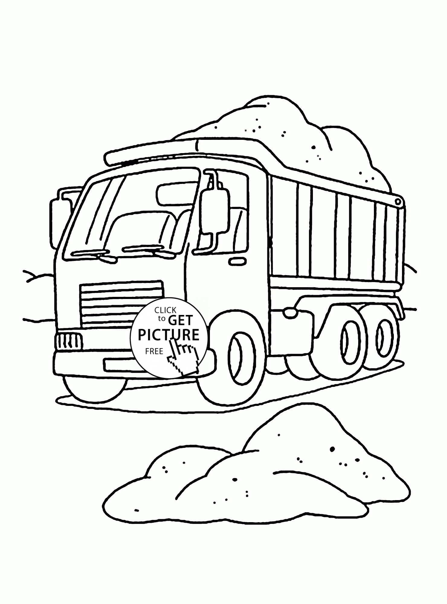construction truck coloring pages - construction dump truck coloring page for kids transportation coloring pages printables free 2