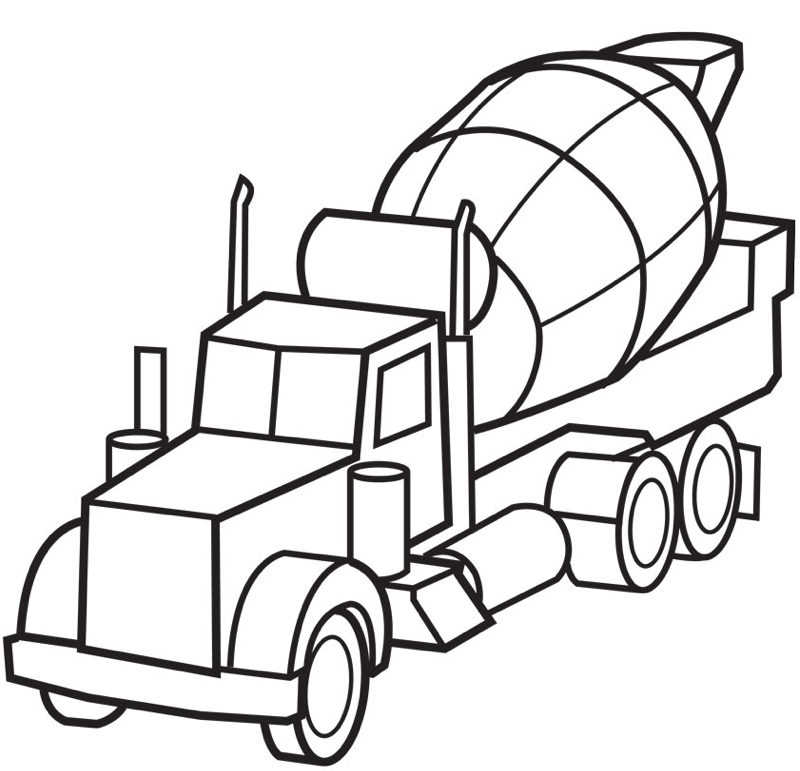 Construction Truck Coloring Pages - Construction Truck Coloring Pages Coloring Home