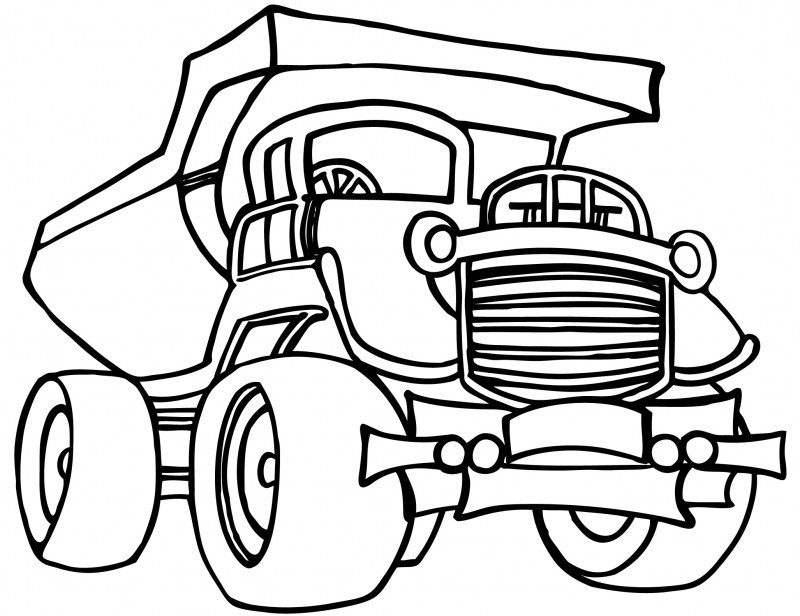 construction truck coloring pages - construction vehicle coloring pages