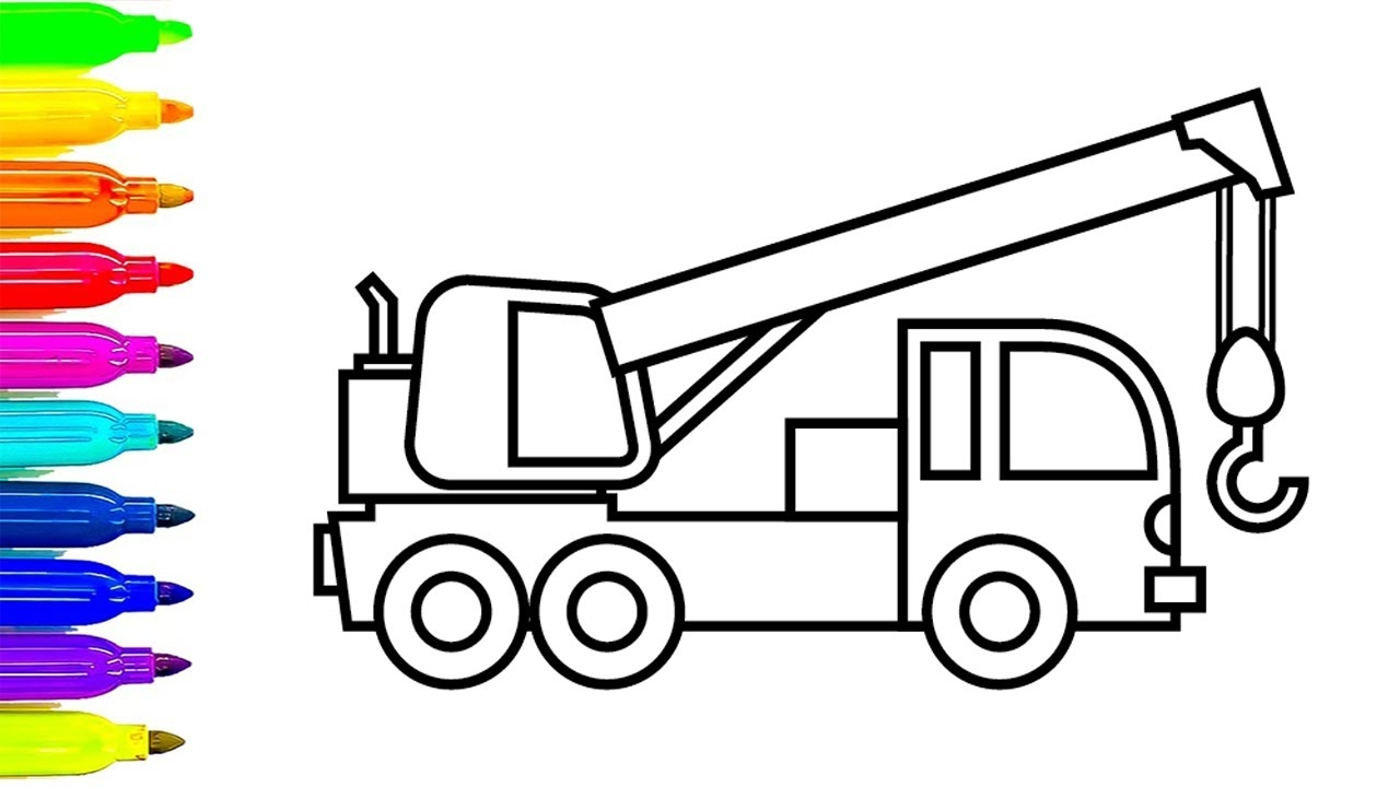 construction truck coloring pages - watch v=eU36deGhYXI