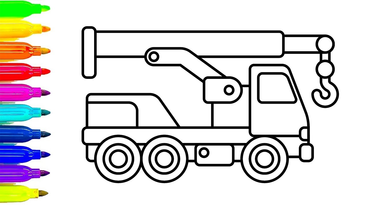 construction truck coloring pages - watch v=XVu9kTAjVVs