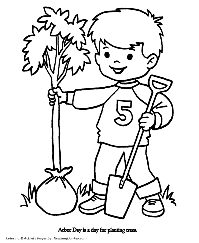 continents coloring page - coloring page of a boy