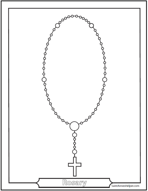convert photo to coloring page free - rosary coloring pages