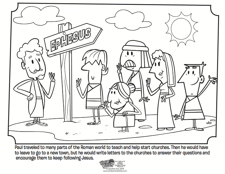 convert photo to coloring page free - paul and the church coloring page