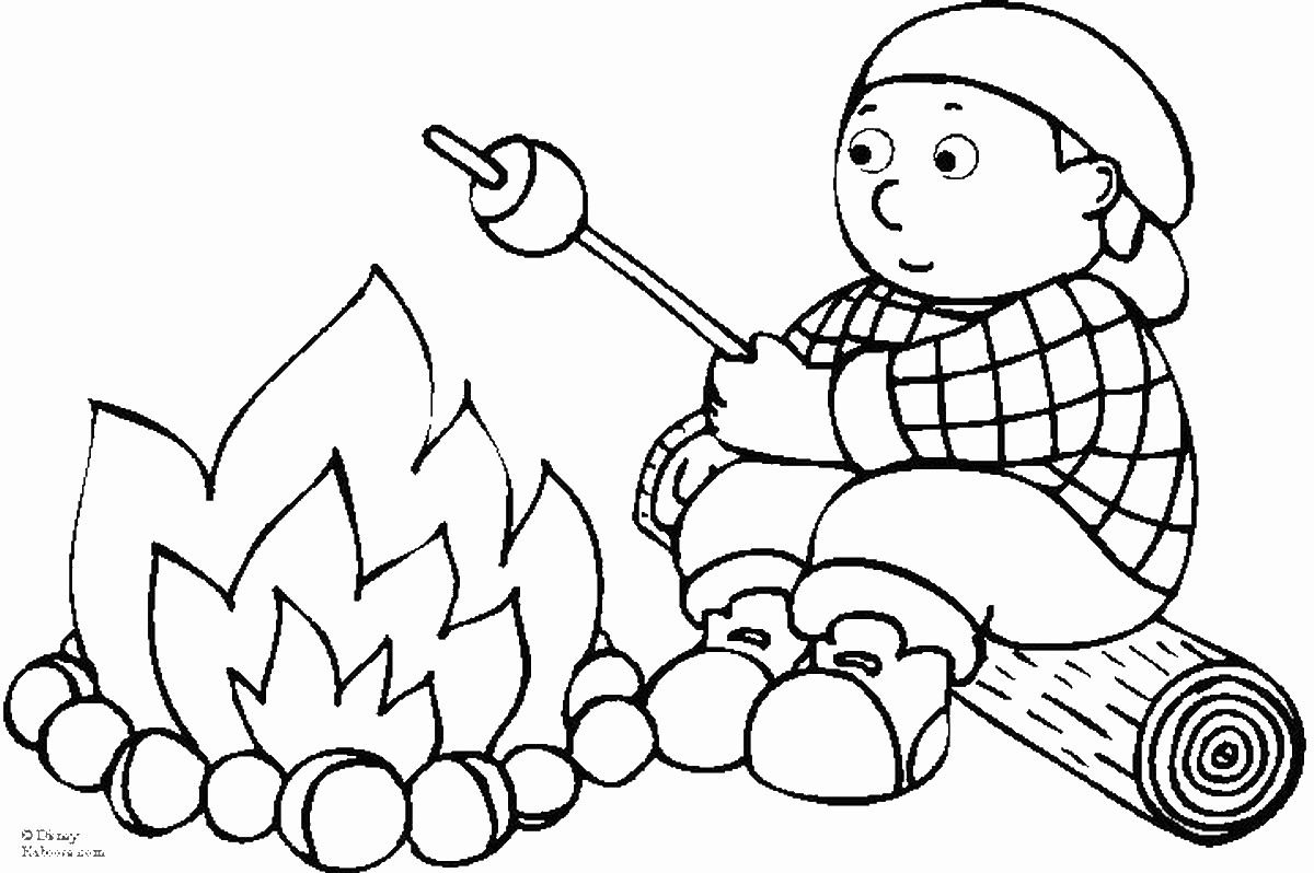 cooking coloring pages - camping coloring pages
