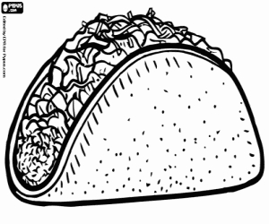 Cooking Coloring Pages - Mexican Food Coloring Pages Printable Games