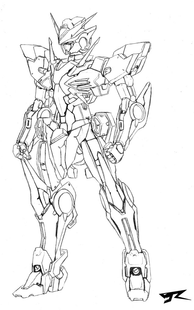 cool coloring pages - Gundam 00 Ve R X