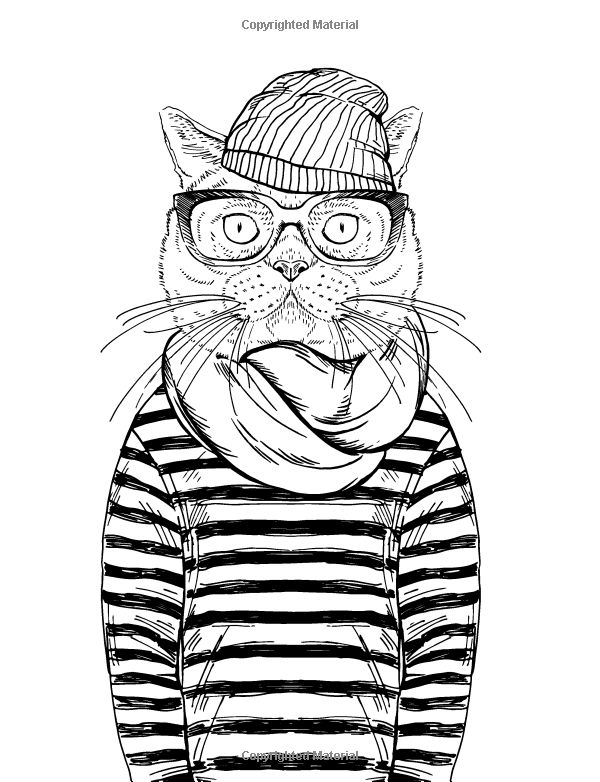 Cool Coloring Pages for Adults - Cat Coloring Book for Adults Google Search