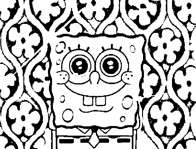 cool coloring pages to print - spongebob coloring pages