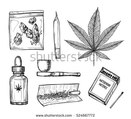 cool design coloring pages - ganja