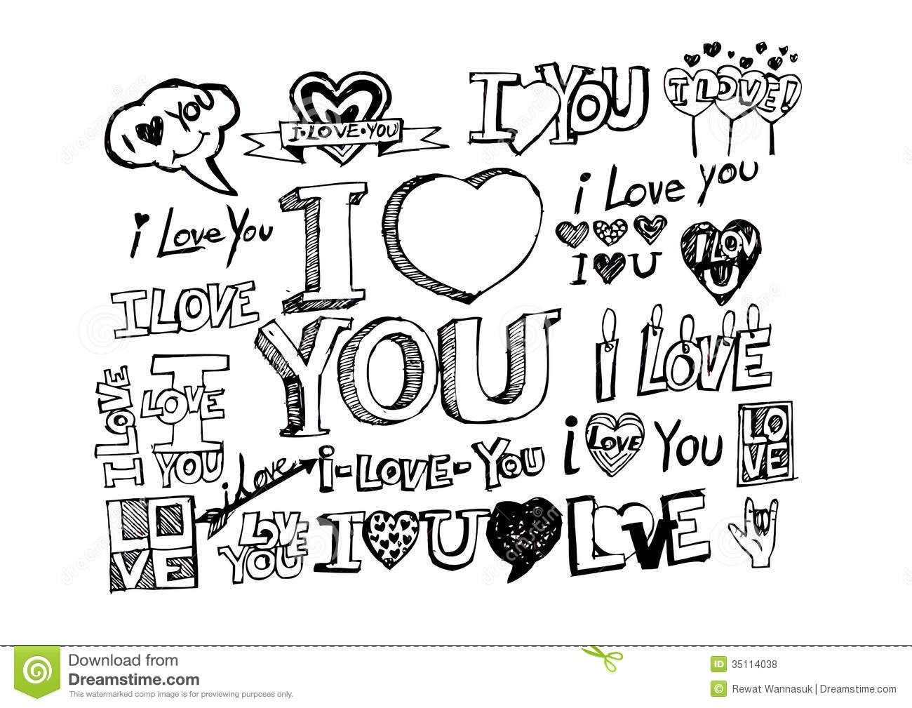 cool design coloring pages - royalty free stock photos hand draw valentine s day design labels icons elements collection image