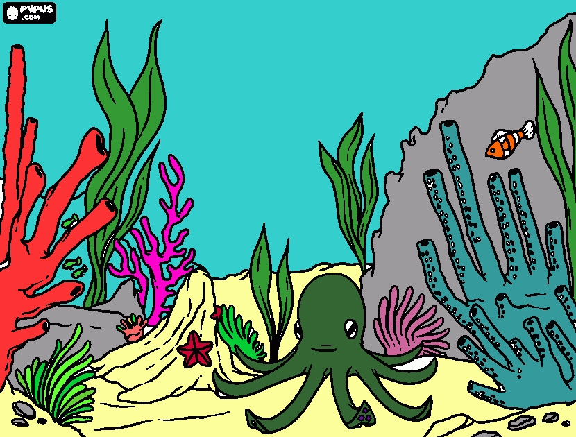 coral coloring pages - coloring page coral reef