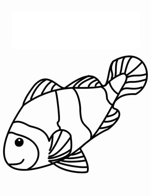 coral reef coloring page - fish color pages