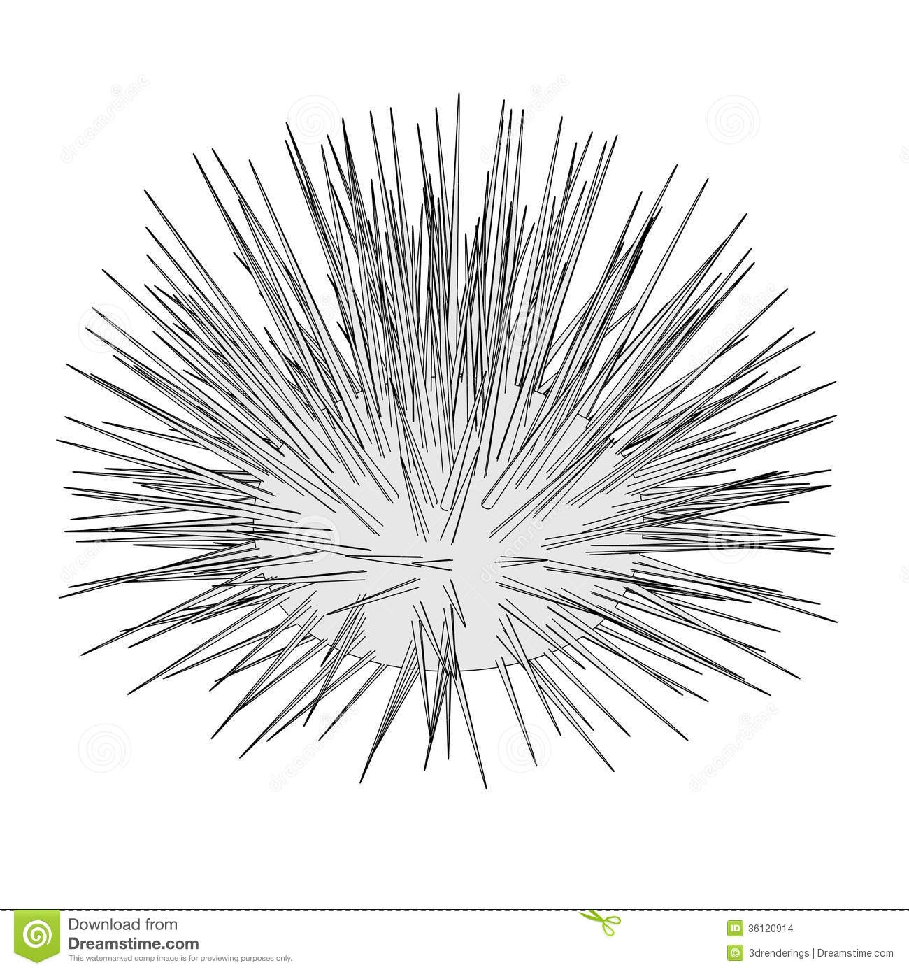 coral reef coloring page - stock images image sea urchin cartoon image