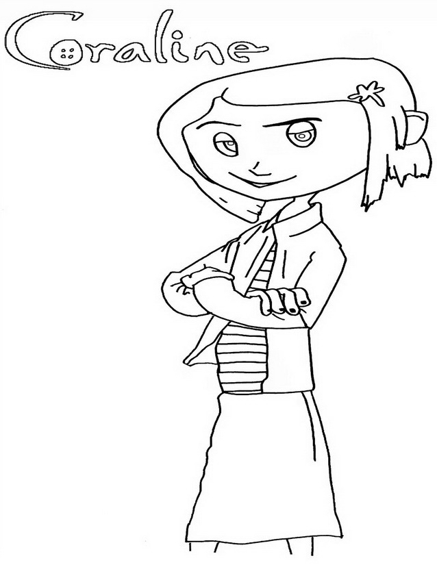 24 Coraline Coloring Pages Pictures   FREE COLORING PAGES - Part 2