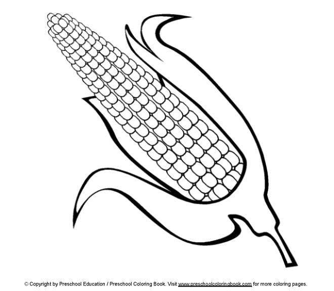 23 Corn Coloring Page Pictures