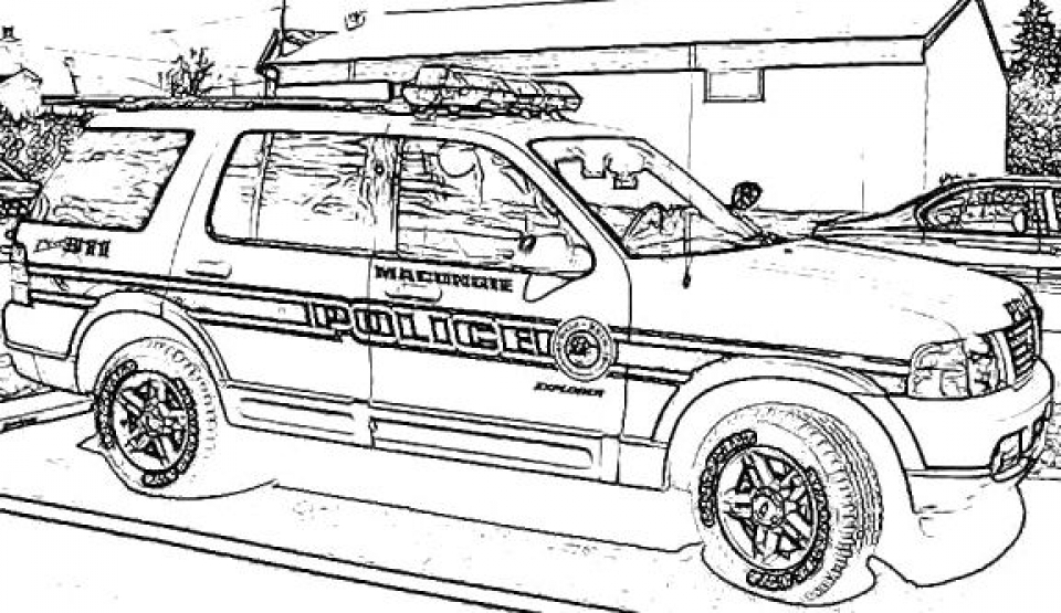 corvette coloring pages - printable police car coloring pages