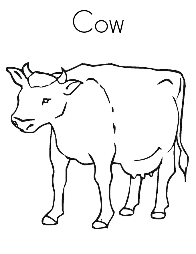 photo relating to Printable Cow identified as 20 Cow Coloring Internet pages Printable No cost COLORING Internet pages - Aspect 3