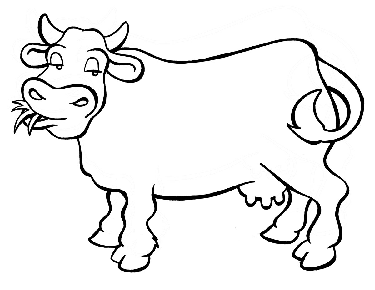 cow coloring pages - printable cow coloring pages