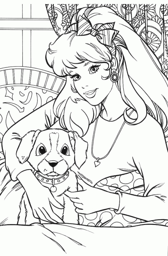 cowboy coloring pages - barbie 15