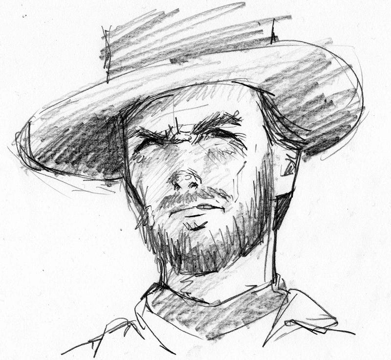 cowboy coloring pages - Clint Eastwood