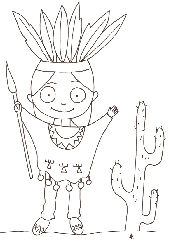 cowboy coloring pages - in n6