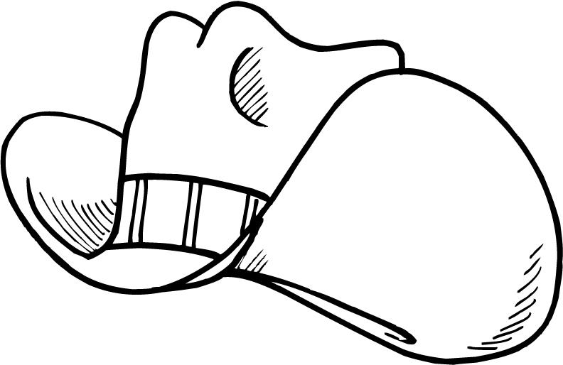 cowboy hat coloring page - cartoon cowboy hat coloring pages for kids