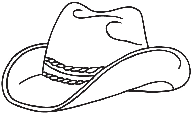 cowboy hat coloring page - coloring pages 6739
