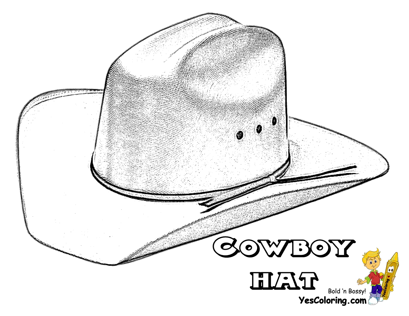 cowboy hat coloring page - cowboy hats cowboys and coloring pages on pinterest inside cowboy hat coloring page