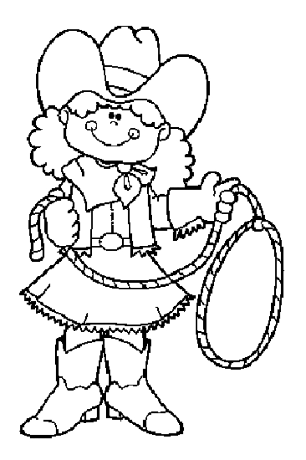 cowgirl coloring pages - cowboy