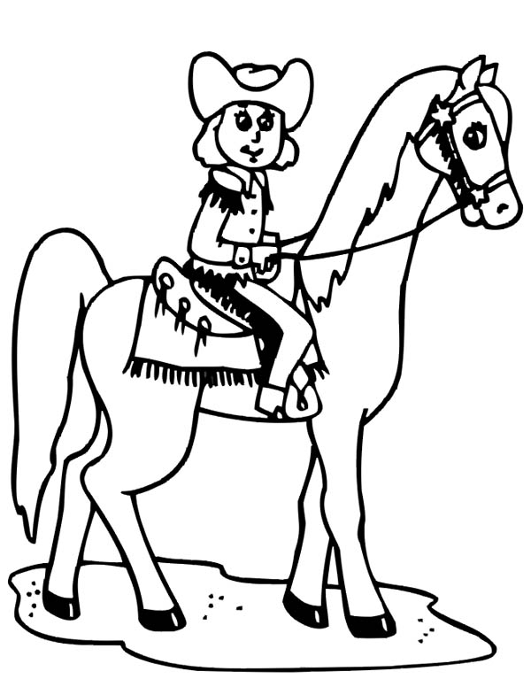 cowgirl coloring pages - b2291bae