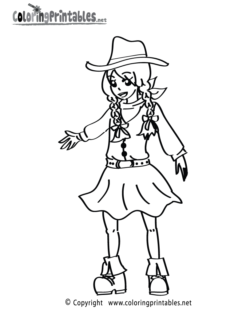 cowgirl coloring pages - cowgirl coloring page