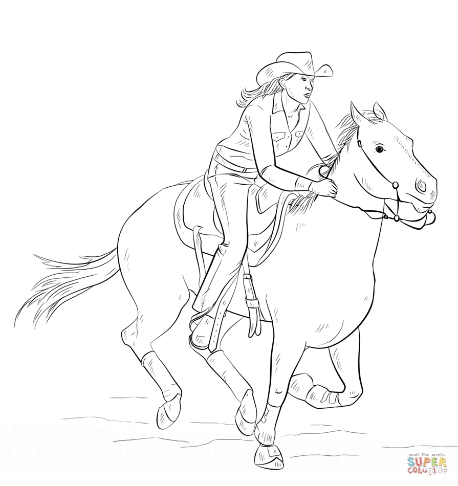 cowgirl coloring pages - cowgirl