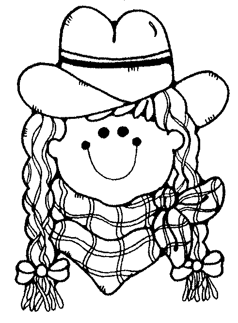 cowgirl coloring pages -