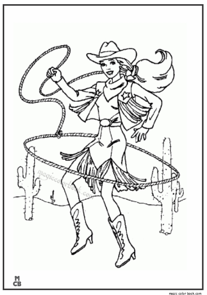 cowgirl coloring pages - cowgirl cowboy coloring pages