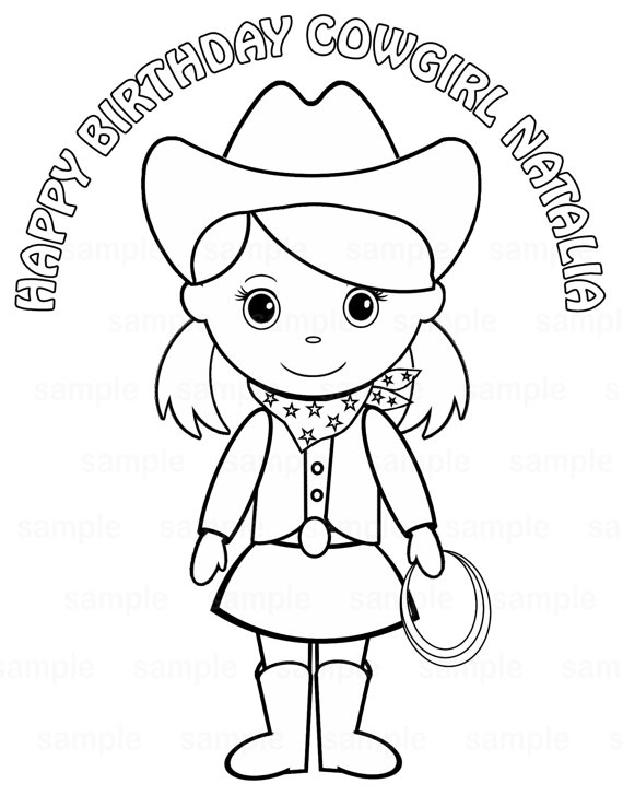 Cowgirl Coloring Pages - Cowgirl Free Coloring Pages