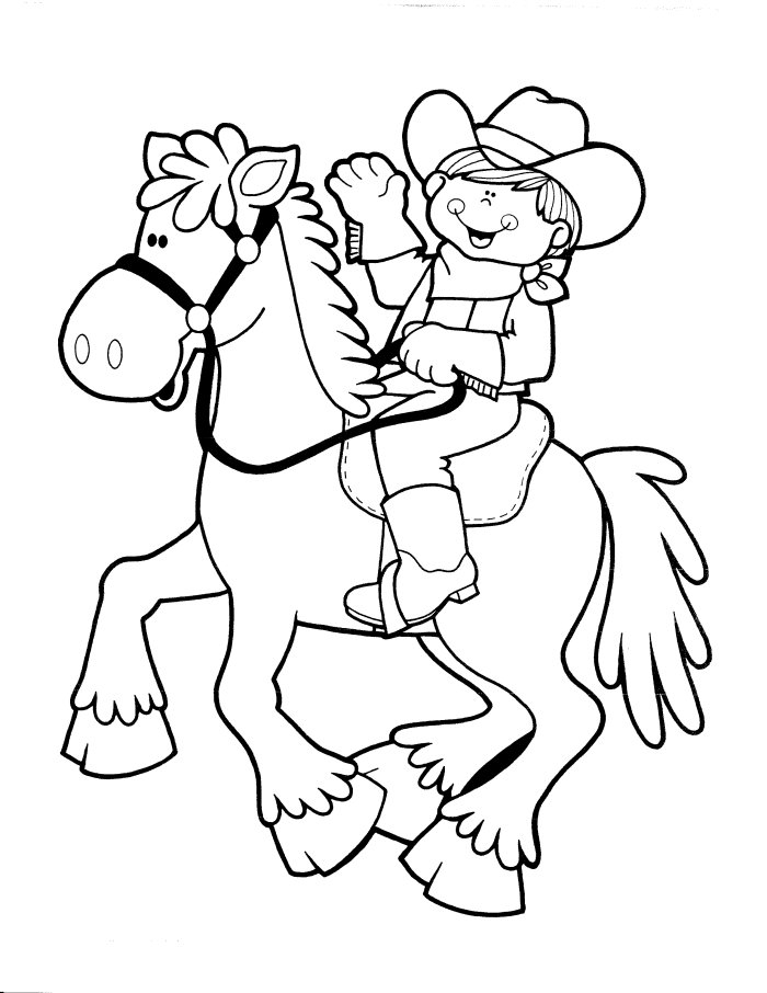 cowgirl coloring pages - 4