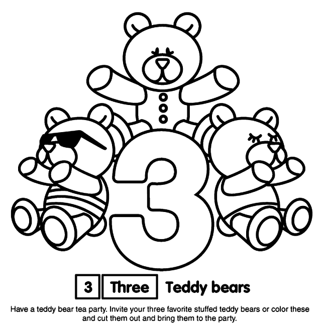 crayola free coloring pages - number 3