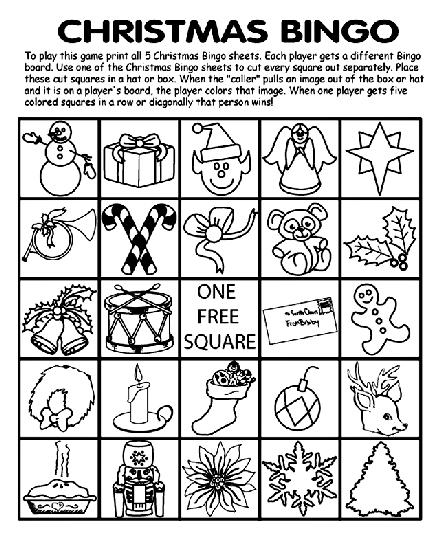 crayola giant coloring pages - christmas bingo board no2 coloring page