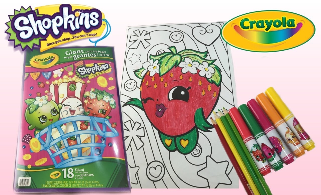 crayola giant coloring pages - crayola shopkins coloring book printable 3 3