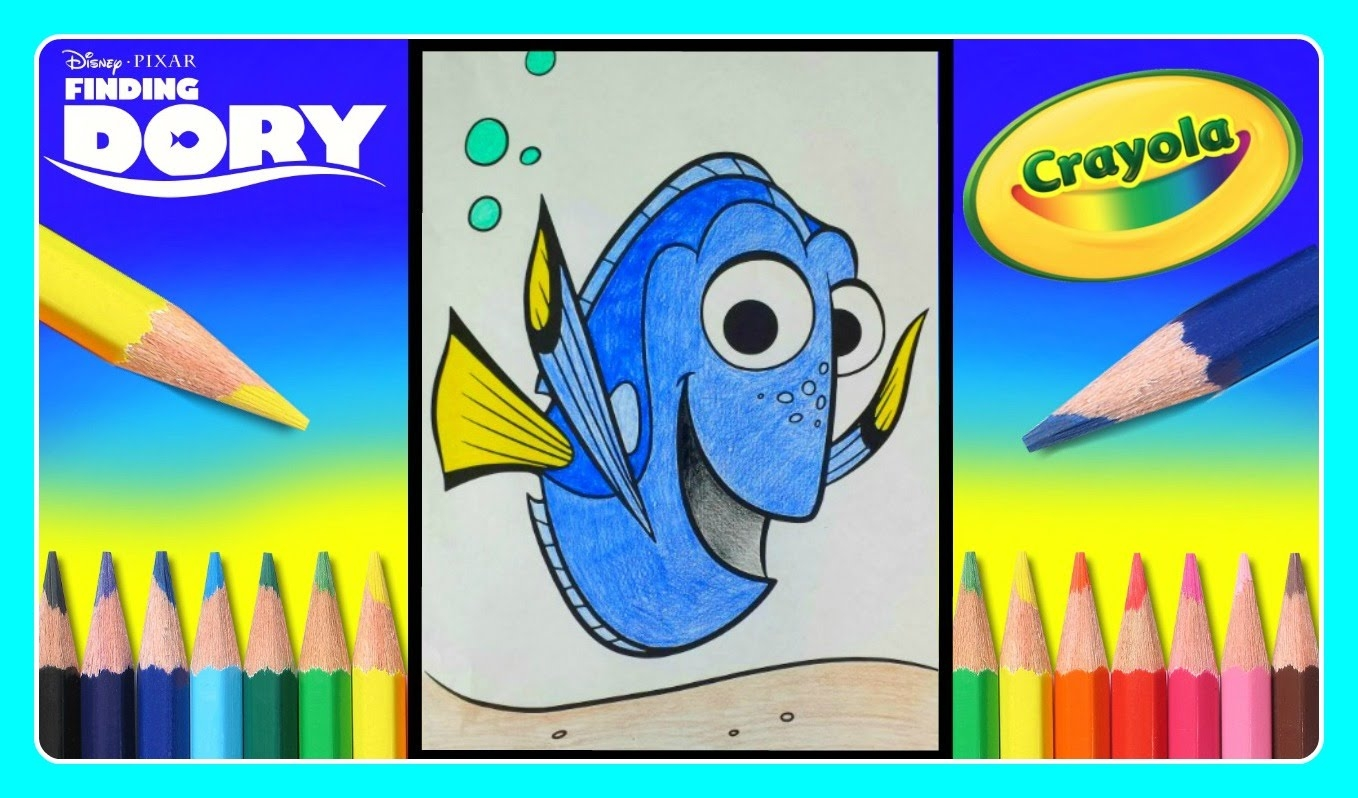 Crayola Giant Coloring Pages - Finding Dory Crayola Giant Coloring Pages Finding Dory