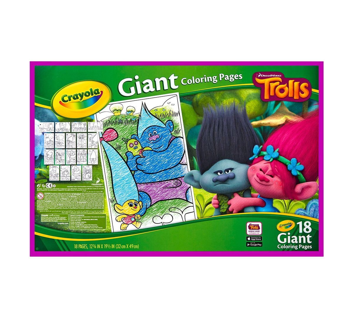 crayola giant coloring pages - giant coloring pages trolls