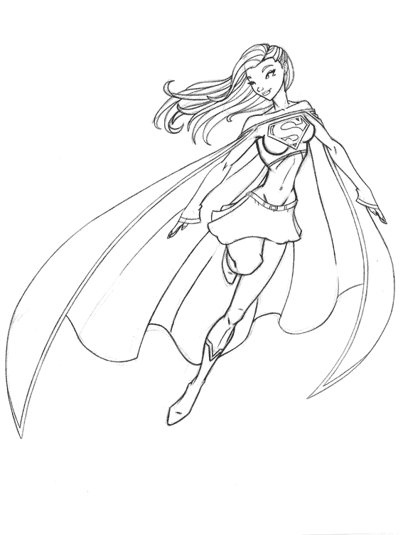 crayon coloring pages - coloriage supergirl
