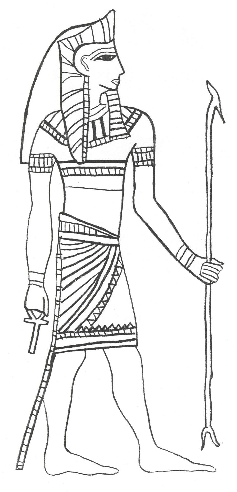 crayon coloring pages - printable ancient egypt coloring pages